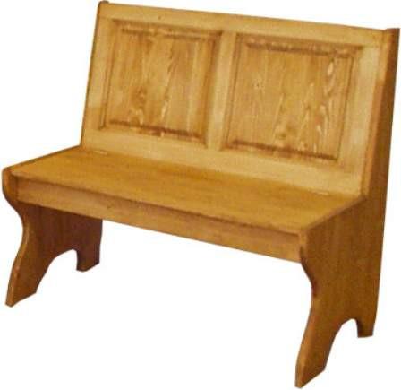 Dřevěná lavice plná malá 00528