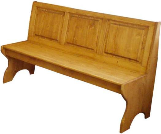 Dřevěná lavice plná velká 00529