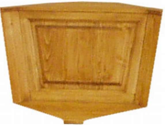 Dřevěná lavice plná 00527 roh