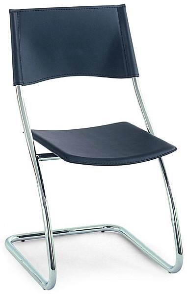 Autronic Jídelní židle B161 BK - Chrom / černá