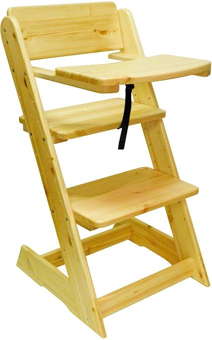 ATAN Dětská rostoucí židle s pultíkem Borovice - přírodní lak