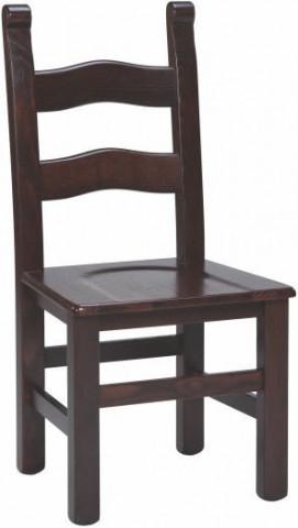 Dřevěná židle Pesante - tmavě hnědá