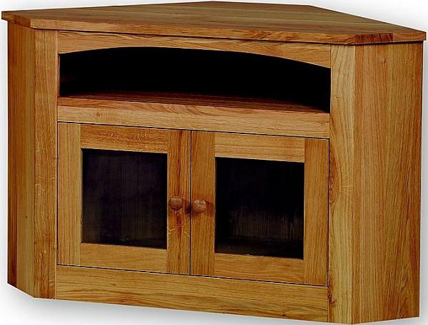 TV stolek rohový se sklem 22181 dub