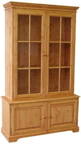 Dřevěná knihovna prosklená 00310