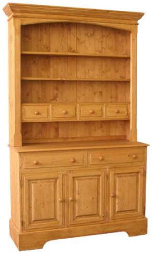 Dřevěná kredenc otevřená 00140