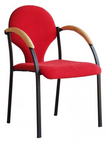 Konferenční židle Neon - dřevěné područky