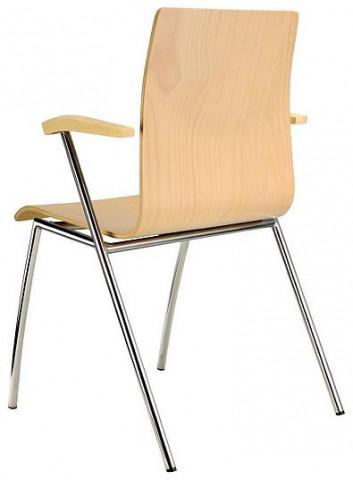 Konferenční židle Ibis s područkami - dřevěná