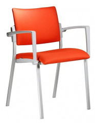Konferenční židle Square šedý plast
