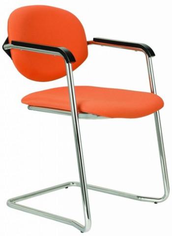 Konferenční židle Wendy čalouněná cantilever