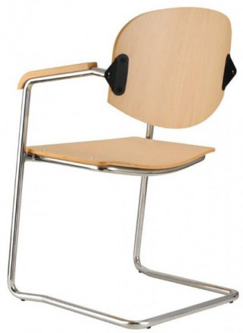 Konferenční židle Wendy dřevěná cantilever