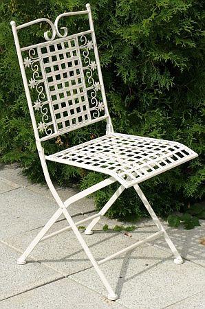 Kovová židle Rose AH0509WH