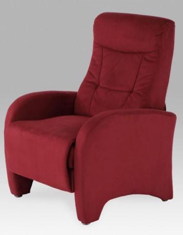 Relaxační křeslo TV-7027 - RED - Mikroplyš červený