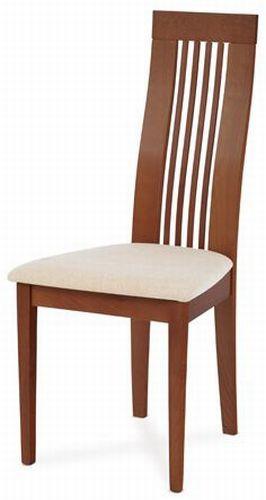 Autronic Jídelní židle BC-2411 TR3 - Třešeň,potah krémový