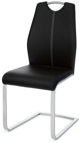 Jídelní židle HC-785 - BK černá koženka
