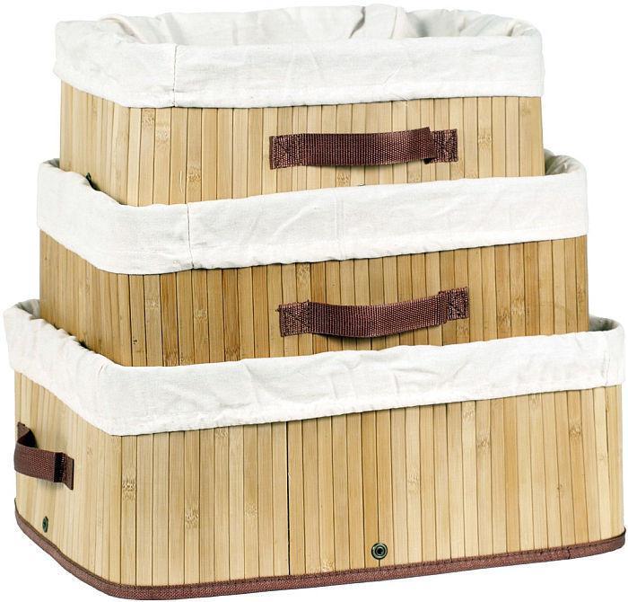 Sada 3 bambusových košů 11001XL