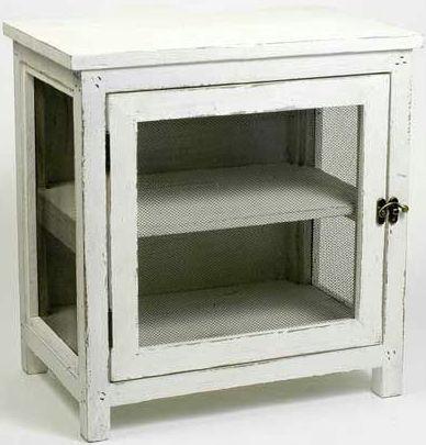 Dřevěná skříňka Antik white
