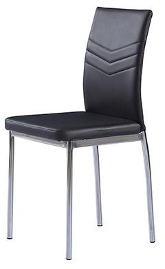 Jídelní židle AC-1280 - BK - koženka černá