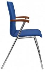 Konferenční židle Ibis s područkami - čalouněná