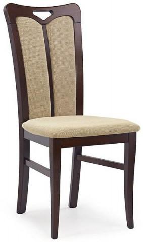 Jídelní židle Hubert 2 - ořech tmavý/Torent beige