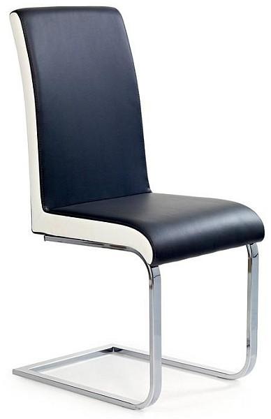 Halmar Jídelní židle K103 černo-bílá
