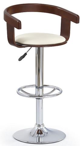 Barová židle H-8 - třešeň antická/béžová koženka