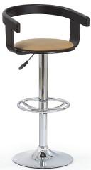Barová židle H-8 - wenge/coffee koženka