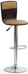 Barová židle H-7 - wenge/kávová koženka