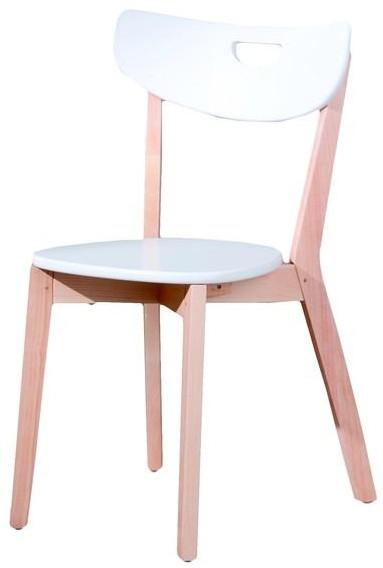 Halmar Dřevěná židle Peppi Bílá