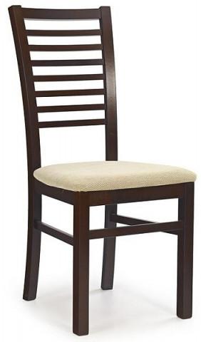 Jídelní židle Gerard 6 - ořech tmavý/TORENT BEIGE
