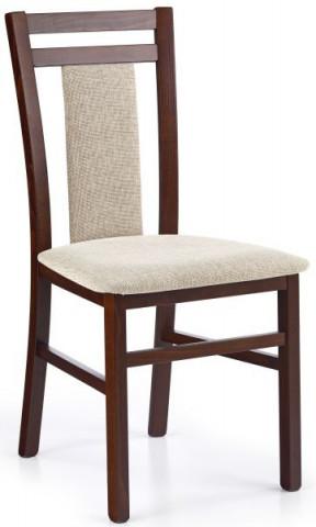 Jídelní židle Hubert 8 - Ořech tmavý/látka Vila 2