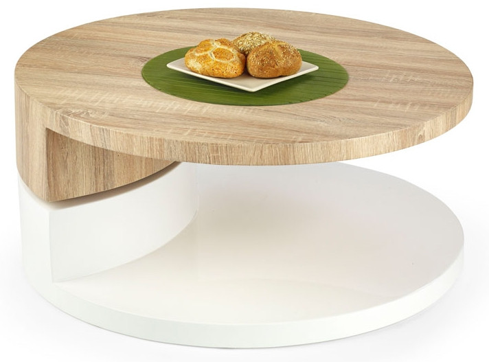 Halmar Konferenční stolek Madeleine - bílá/dub sonoma
