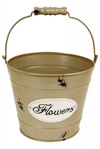 Plechový obal na květiny Flowers