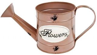 Plechová konvička Flowers