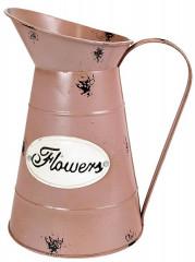 Plechová konev Flowers
