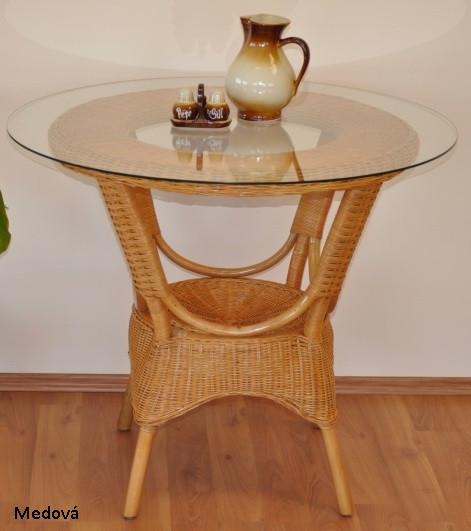 Axin Trading Ratanový jídelní stůl Wanuta Medová