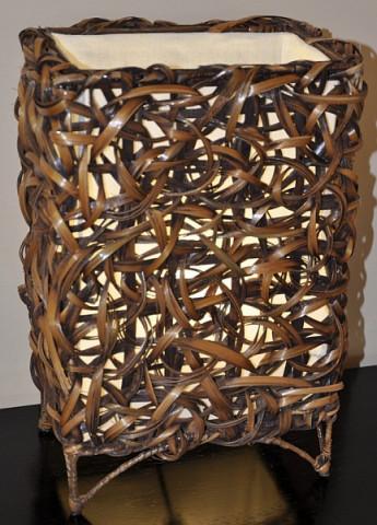 Lampa bambusová malá - rovná (bez žárovek)