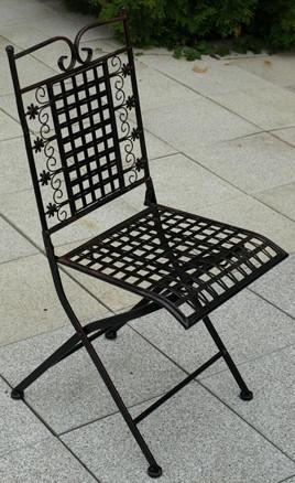 Kovová židle Rose AH0509BK