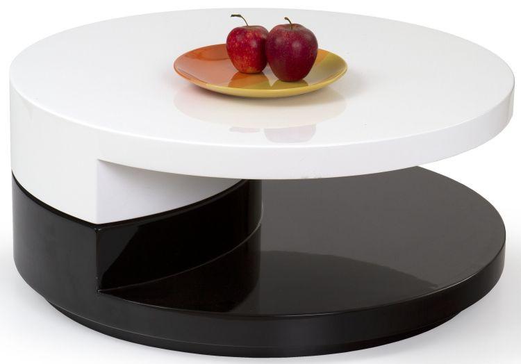 Konferenční stolek Madeleine - černo-bílý