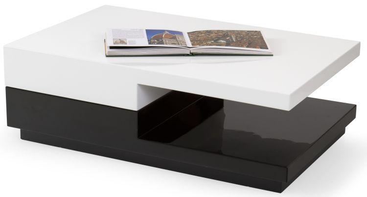 Halmar Konferenční stolek Montana - bílo-černý
