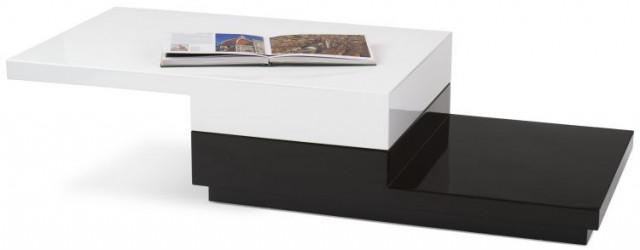 Konferenční stolek Montana - bílo-černý