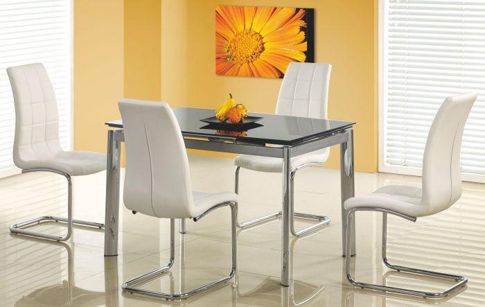 Halmar Jídelní stůl Lambert Bílé sklo