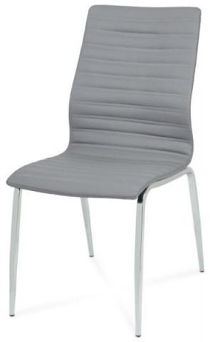 Jídelní židle DCL-578 - GREY1 - šedá koženka
