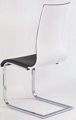 Jídelní židle K104 - Černá koženka/překližka bílá