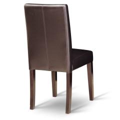 Jídelní židle VIVA - tmavě hnědá