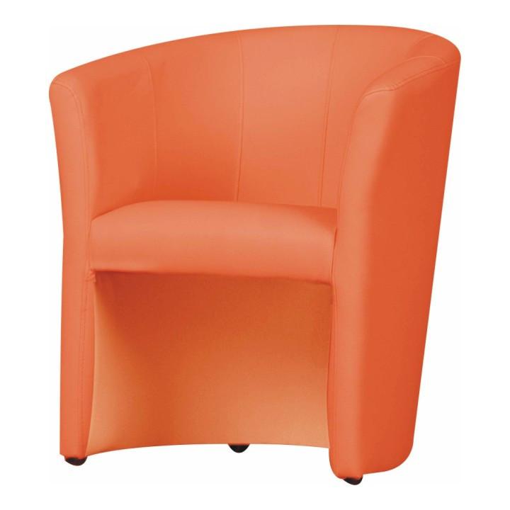 Tempo Kondela Křeslo CUBA - oranžová ekokůže + kupón KONDELA10 na okamžitou slevu 10% (kupón uplatníte v košíku)