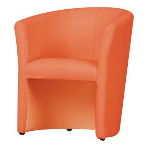 Křeslo CUBA - oranžová ekokůže