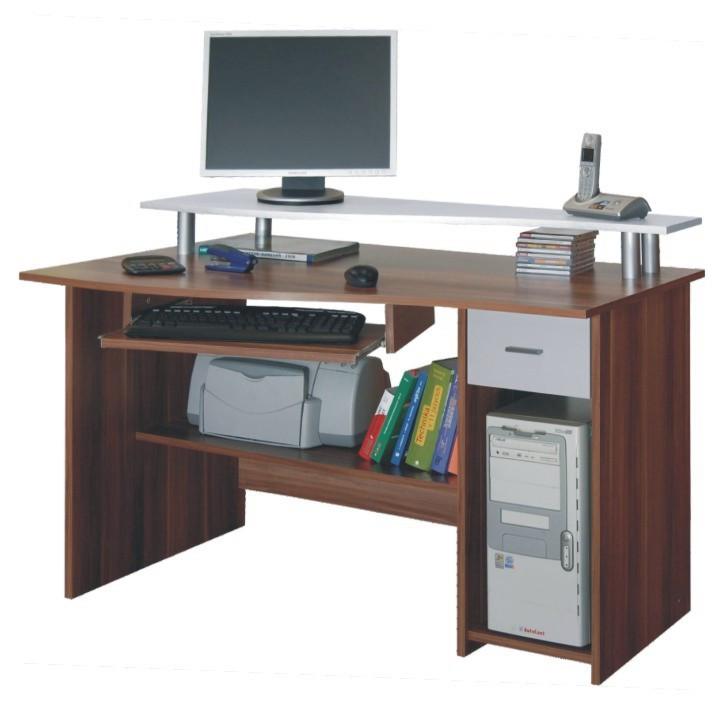 Tempo Kondela PC stůl PLUTO - švestka + kupón KONDELA10 na okamžitou slevu 10% (kupón uplatníte v košíku)