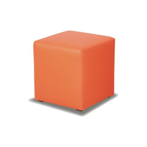 Taburet KUBIK - oranžový