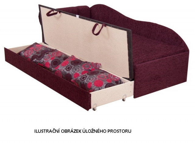 Pohovka AGA D růžová - LEVÁ