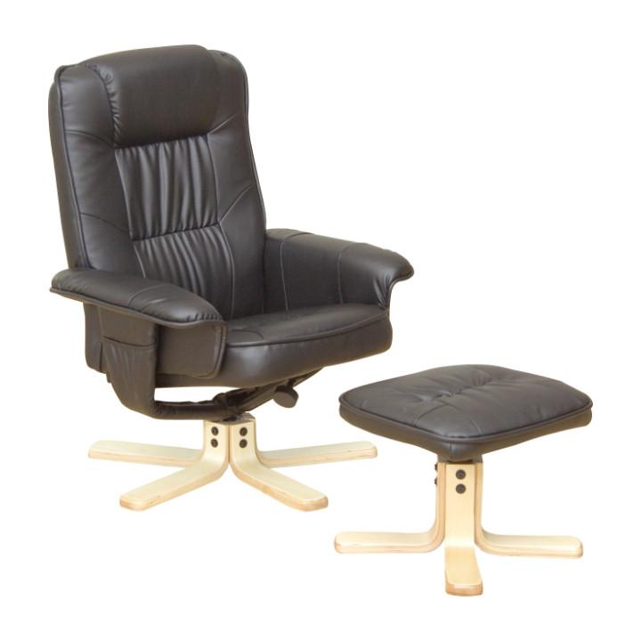 Tempo Kondela Relaxační křeslo EDDIE - černé + kupón KONDELA10 na okamžitou slevu 10% (kupón uplatníte v košíku)